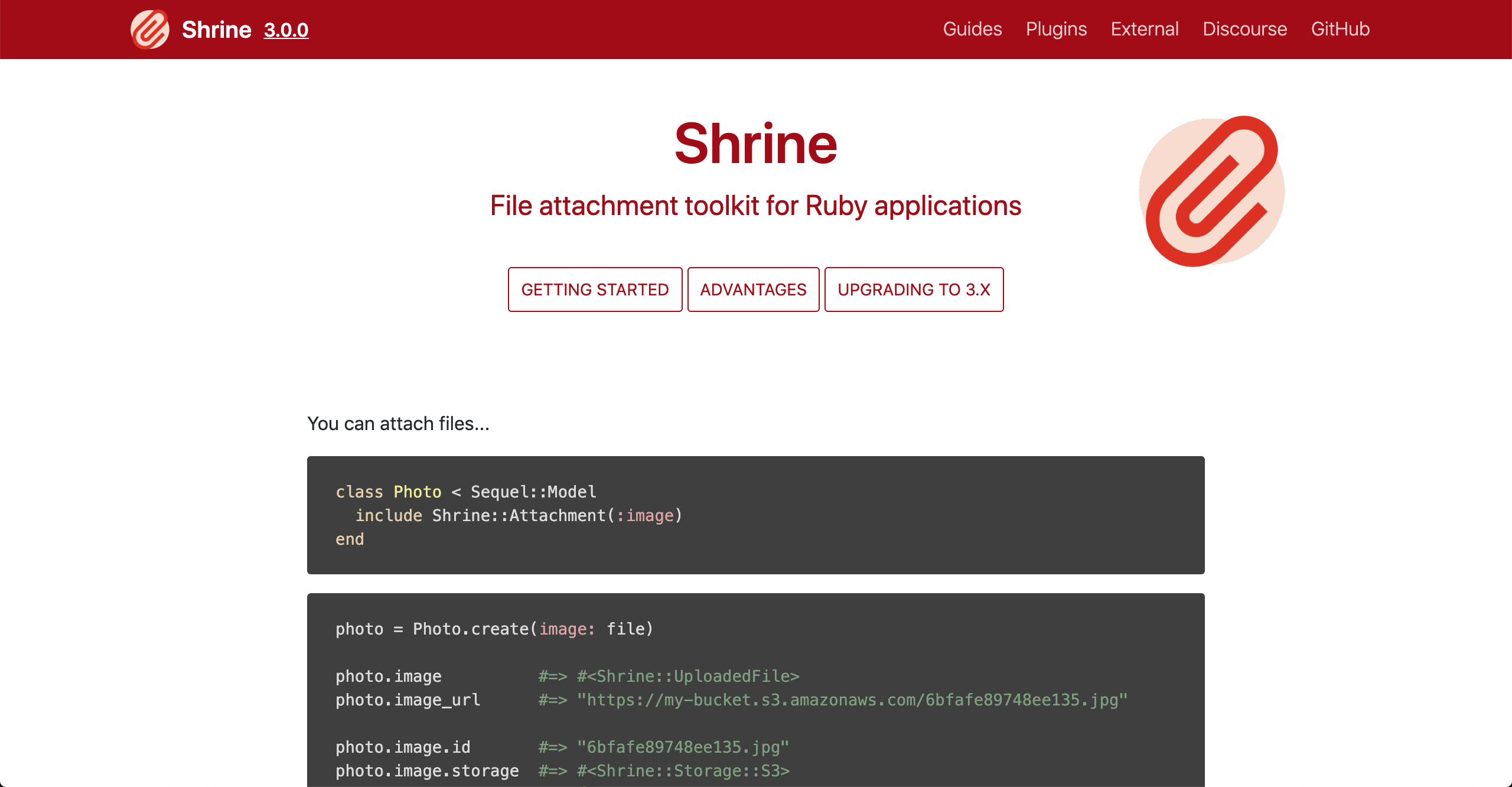 Shrine new website